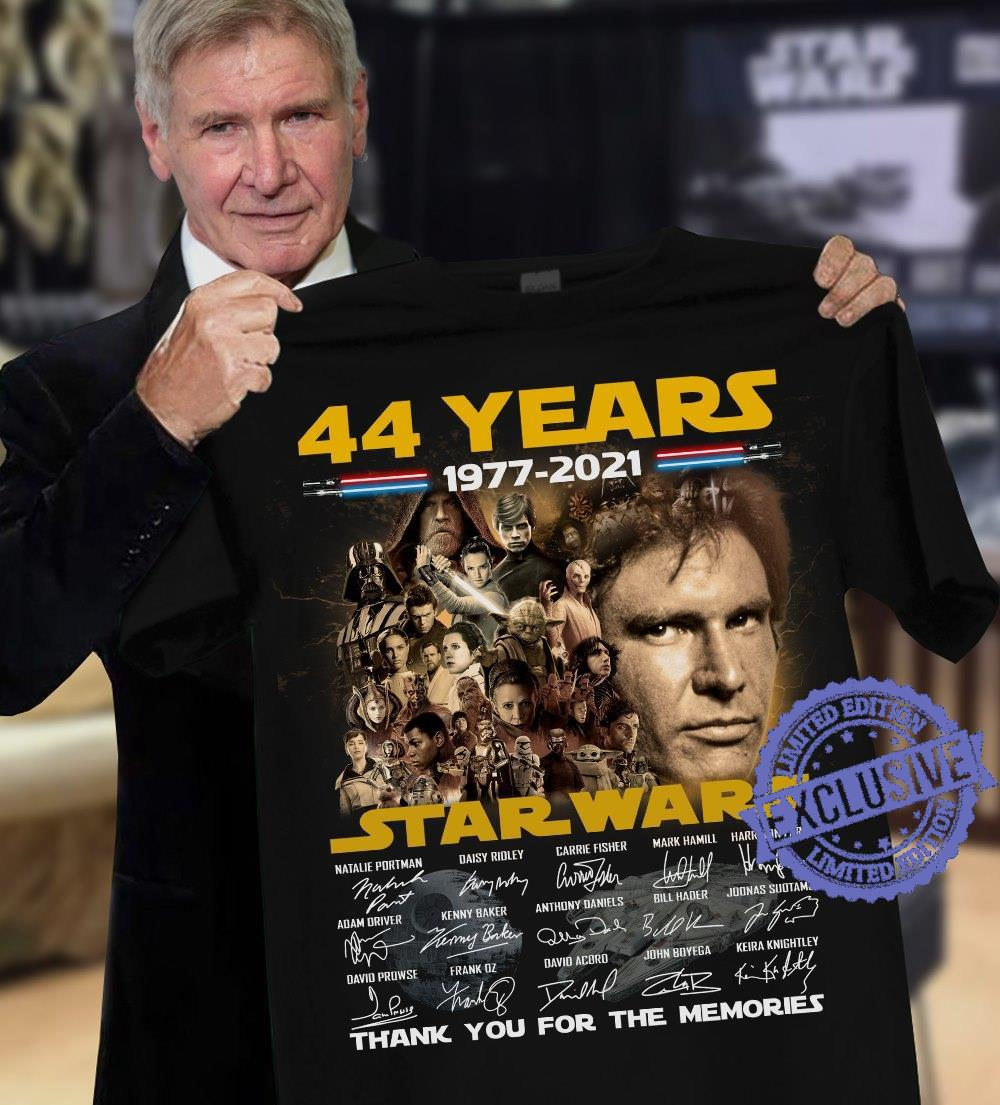 44 Years 1977 2021 Star Wars Thank You For The Memories shirt