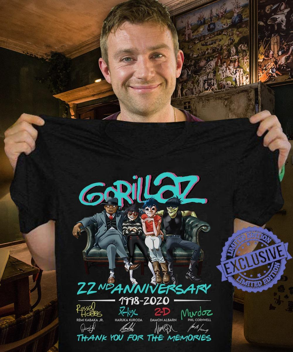 Gorillaz 22nd Anniversary Thank You For The Memories shirt